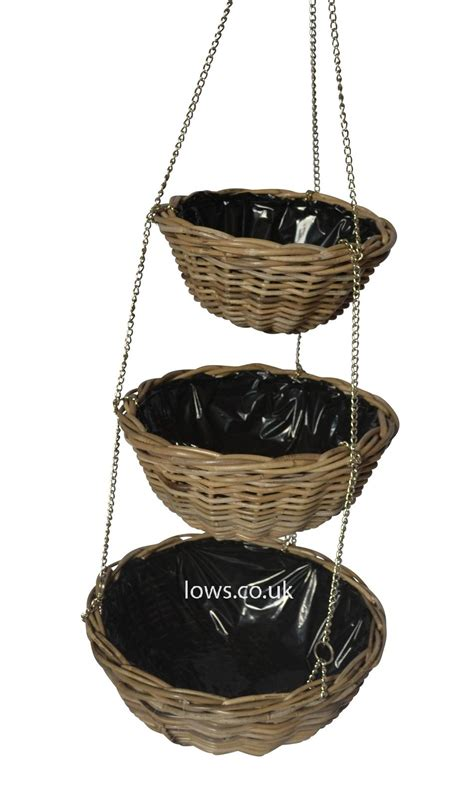 hanging planter basket 3 tier round hanging basket planter lows of dundee
