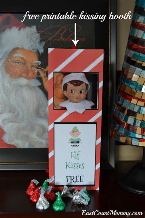 free printable elf on the shelf photo booth east coast mommy elf kissing booth free printable