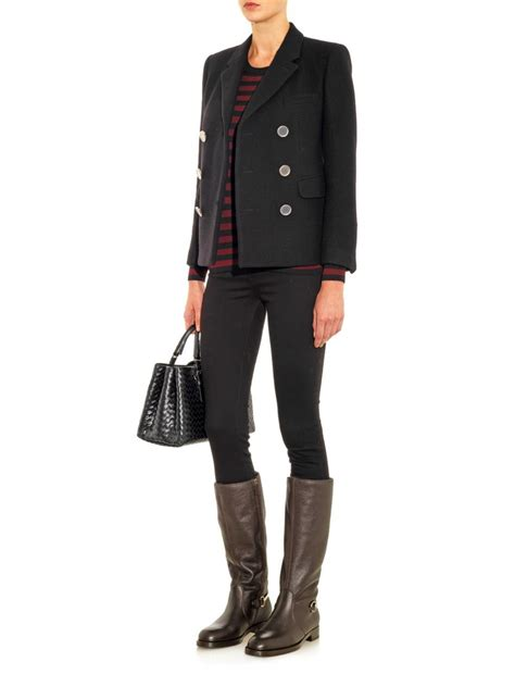 leather riding lyst gucci horsebit leather riding boots in brown