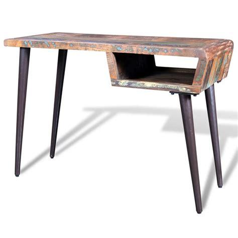 reclaimed wood desk reclaimed wood desk with iron legs vidaxl