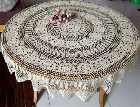 Handmade Crochet Tablecloths For Sale - sale handmade crocheted tablecloth by tableclothshop on etsy
