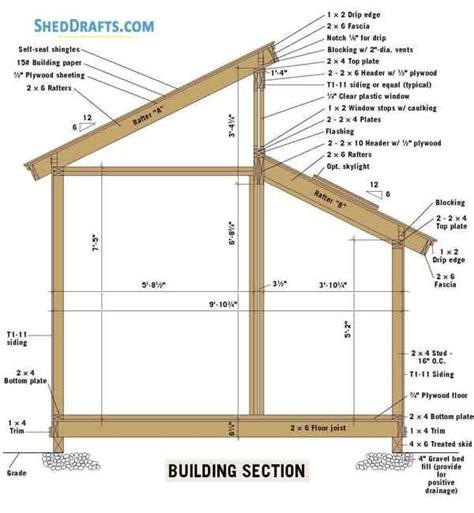 clerestory shed plans blueprints  building section