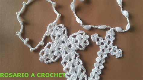cruz artesanal a crochet paso a paso youtube crochet rosario rosary cruz muyyy facil para principiantes