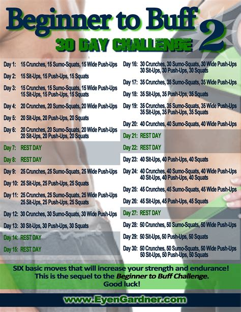 30 day fitness challenges for 30 day challenge my healthy start