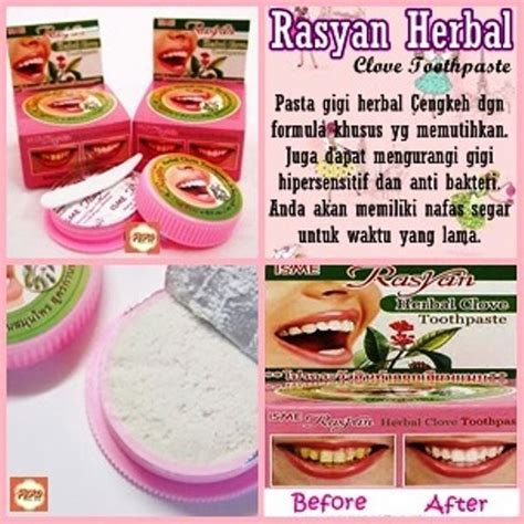 Rasyan Herbal Clove Toothpaste X12 Rasyan Isme Thai Herbal Clove Toothpaste Whitening