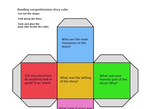 Clubhouse Academy Reading Comprehension Questions Cube