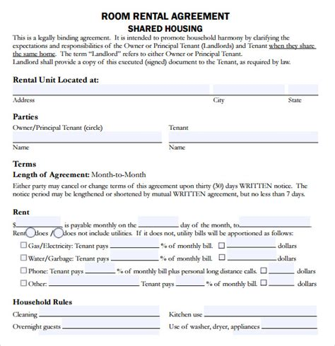 rental house agreement template sle house lease agreement 9 documents in pdf word