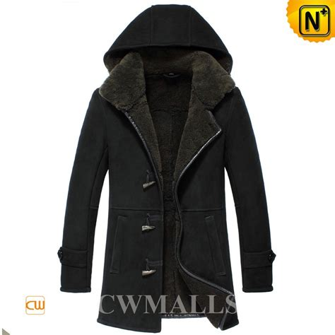 Jaket Simpel Elegan Hooded Jacket hooded black sheepskin shearling jacket cw858359