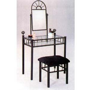 metal sunburst vanity set and makeup table idollarstore