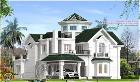 Colonial House Design June 2015 Home Kerala Plans