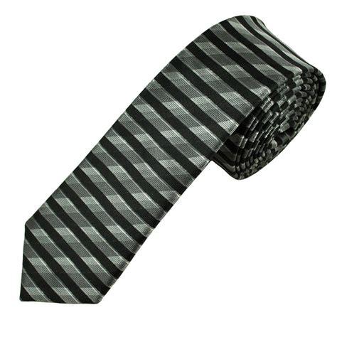 shades of grey black horizontal striped s tie