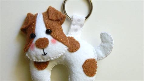 fabric crafts for dogs how to make a precious felt keychain diy style
