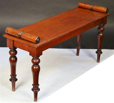 antique mahogany bench victorian mahogany roll end hall bench antiques atlas