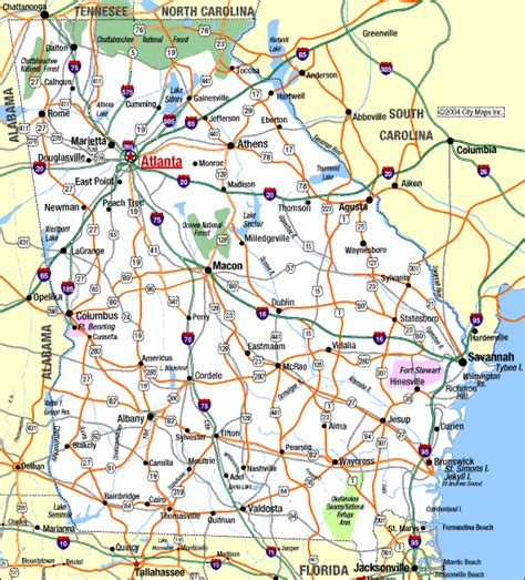 ga map highway map of aaccessmaps
