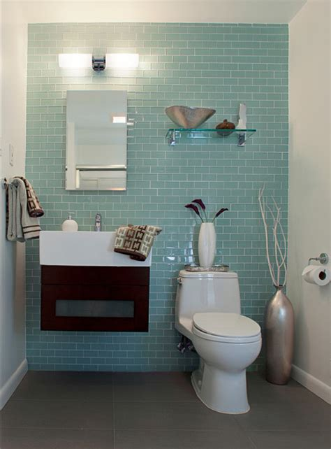 Modern Bathroom Renovation Guest Bathroom Renovation Modern Bathroom Dc Metro By Sheryl Steinberg Interior Design Llc