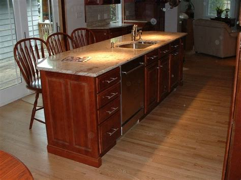 kitchen island sink dishwasher suncook carpentry