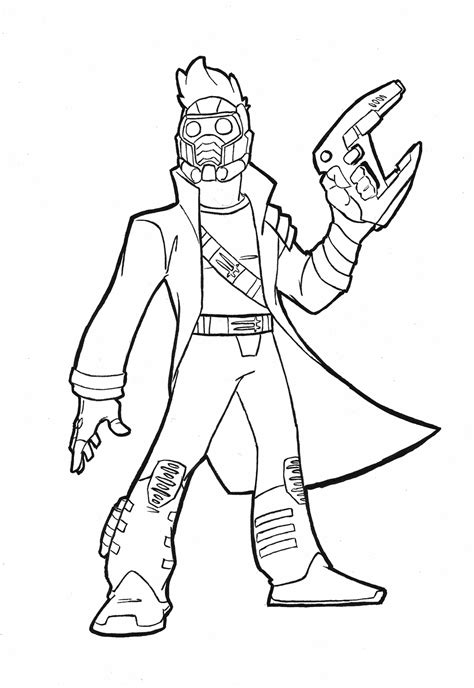 star lord coloring page star lord cartoon by plastikpulse on deviantart