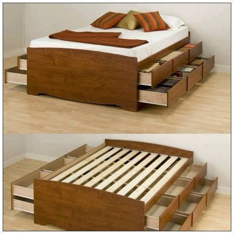 Wooden Bed Frames With Storage Drawers by Wooden Bed Frame With Drawers Beds