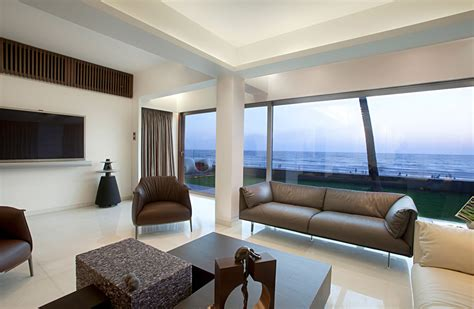 wallpaper for house walls in mumbai apartment by the beach in mumbai india by zz architects