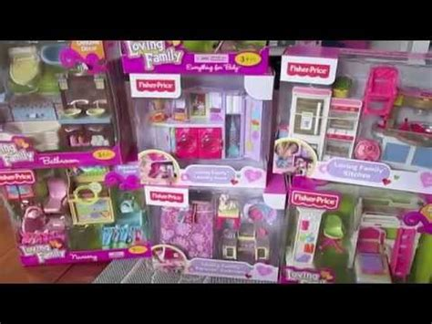 loving family doll house accessories fisher price loving family dollhouse accessory gift set haul youtube