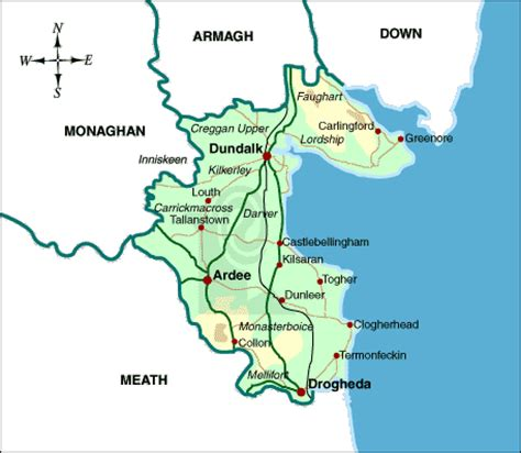 County Louth Ireland Birth Records Image Gallery Louth County Map