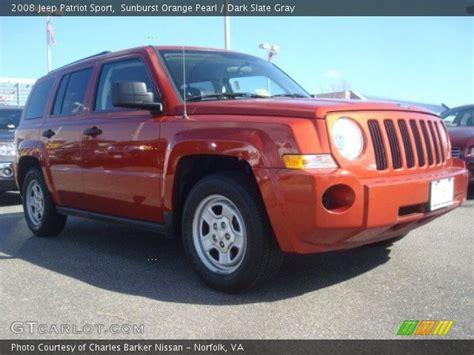 orange jeep patriot sunburst orange pearl 2008 jeep patriot sport dark