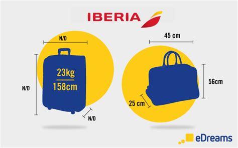 iberia medidas equipaje de mano