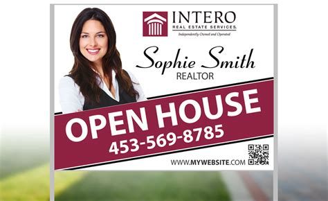 open house real estate signs intero real estate yard signs custom intero real estate yard signs