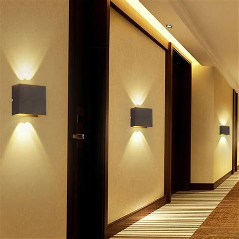 modern 6w led wall light up l sconce spot lighting
