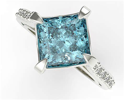 princess cut swiss blue topaz engagement ring vidar