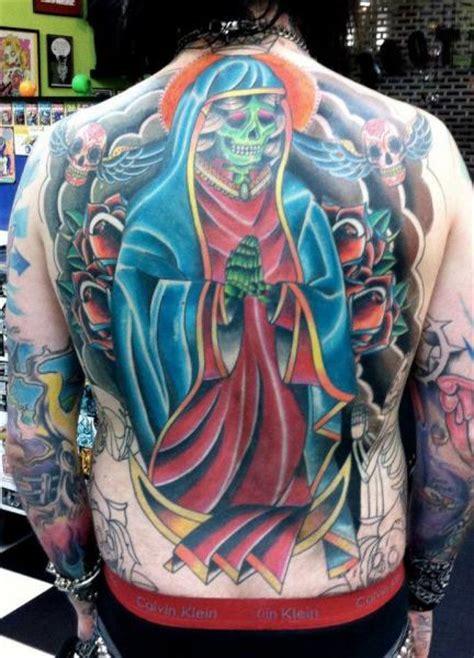 Tattoo New School Back | new school back religious tattoo by tattoo b52