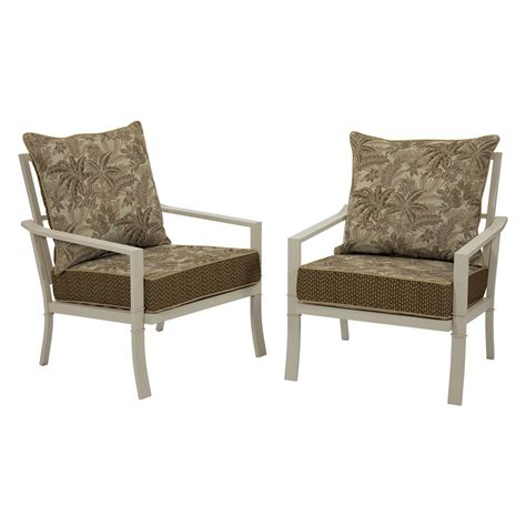 Martha Stewart Dining Chairs Martha Stewart Living Blue Hill White Aluminum Outdoor Dining Chairs With Beige Cushion 2