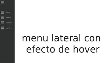 tutorial html y css en español tutorial html y css crear menu lateral con efecto de