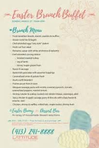 easter lunch buffet menu easter brunch buffet lattitude restaurant longitude