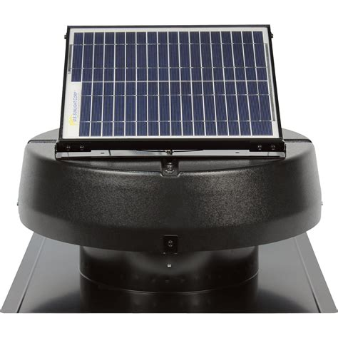 us sunlight solar attic fan product u s sunlight solar powered attic fan 15w