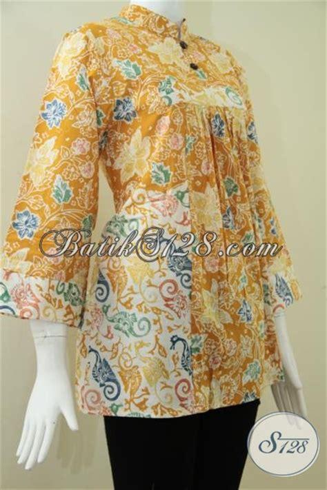 Baju Tidurpiyama Wanita Motif Batik Modern Celana Kuning baju batik wanita warna kuning cerah model batik wanita terbaru dua kombinasi motif bls1007c l