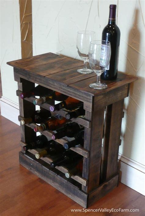 Wood Pallet Wine Rack by Pallet Wood 12 Bottle Wine Rack Floor By