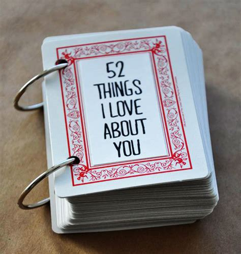 52 things i about you cards template creative ways to say i you on s day