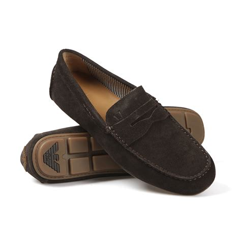armani loafers armani 06588 suede loafer oxygen clothing