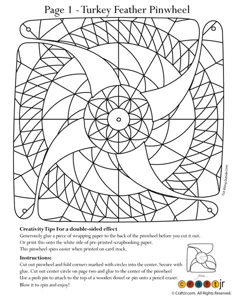 pinwheel designs coloring pages turkey tail feather pinwheel for coloring woo jr kids