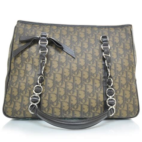 Christian Trotter Romantique Tote Bag by Christian Monogram Trotter Romantique Tote Brown 21999