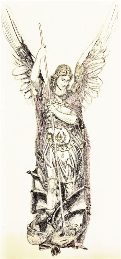tattoo pens michaels 34 best saint michael tattoo outlines images on pinterest