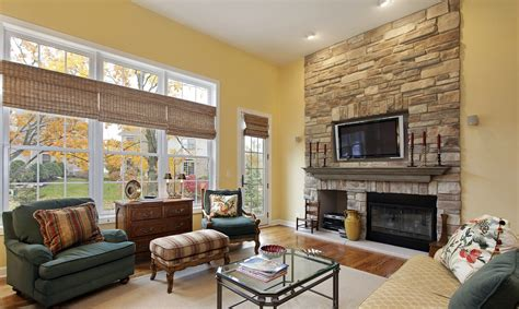 ideas for yellow living room paint colors with white brick fireplace antiquesl