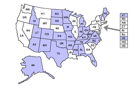 texas ccw reciprocity map delaware concealed carry laws pew pew tactical