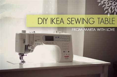 sewing machine table ikea diy ikea sewing table from marta with craft