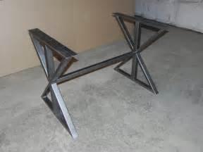 Small Table L Bases Modern Steel Farmhouse Diy Table Base By Funkylivingca On Etsy