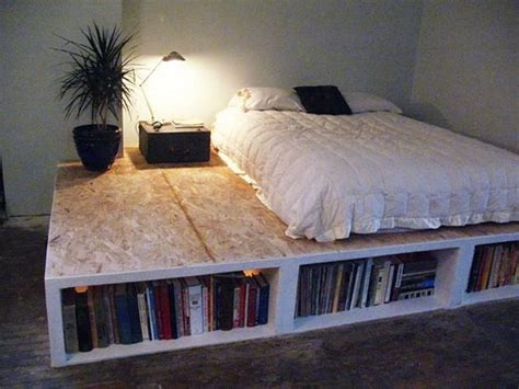 bloombety diy bed frame with bookcase ideas how to build