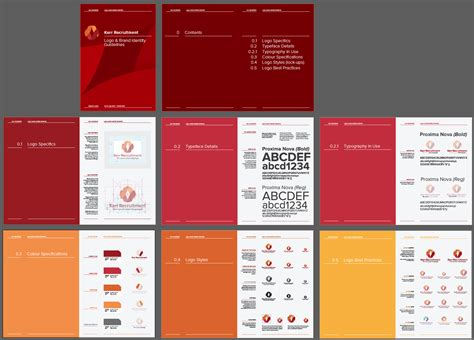 corporate identity manual template 14 page logo and brand identity guidelines template for