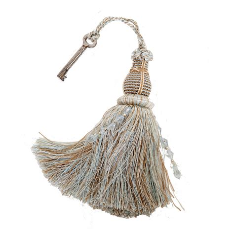 upholstery tassels luxurious duck egg blue key tassel the unique seat company