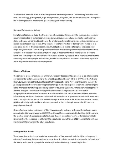Asthma Essay by Asthma Essay Exles Docoments Ojazlink